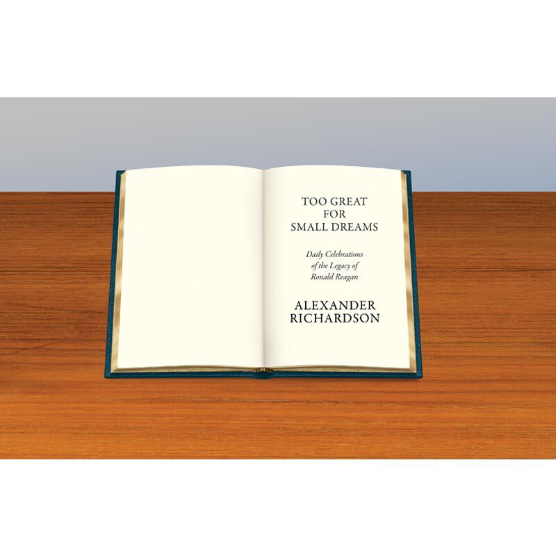 Personalized Leather Book Honoring President Ronald Reagan 5617 7