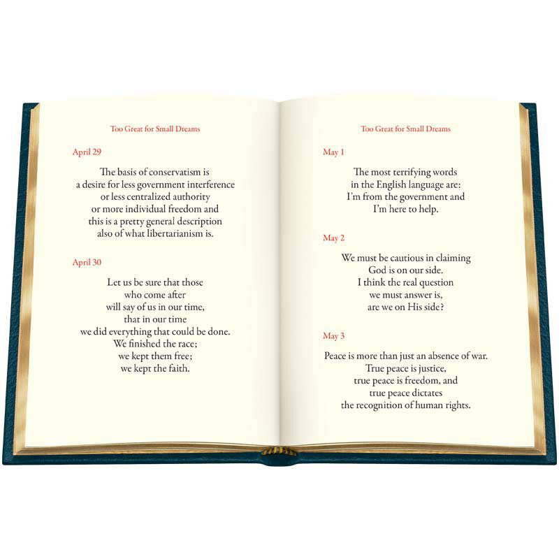 Personalized Leather Book Honoring President Ronald Reagan 5617 8