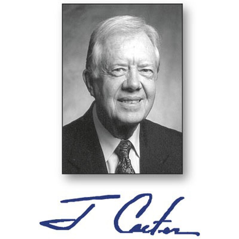 Signed by President Jimmy Carter Peace Not Apartheid 1716 2