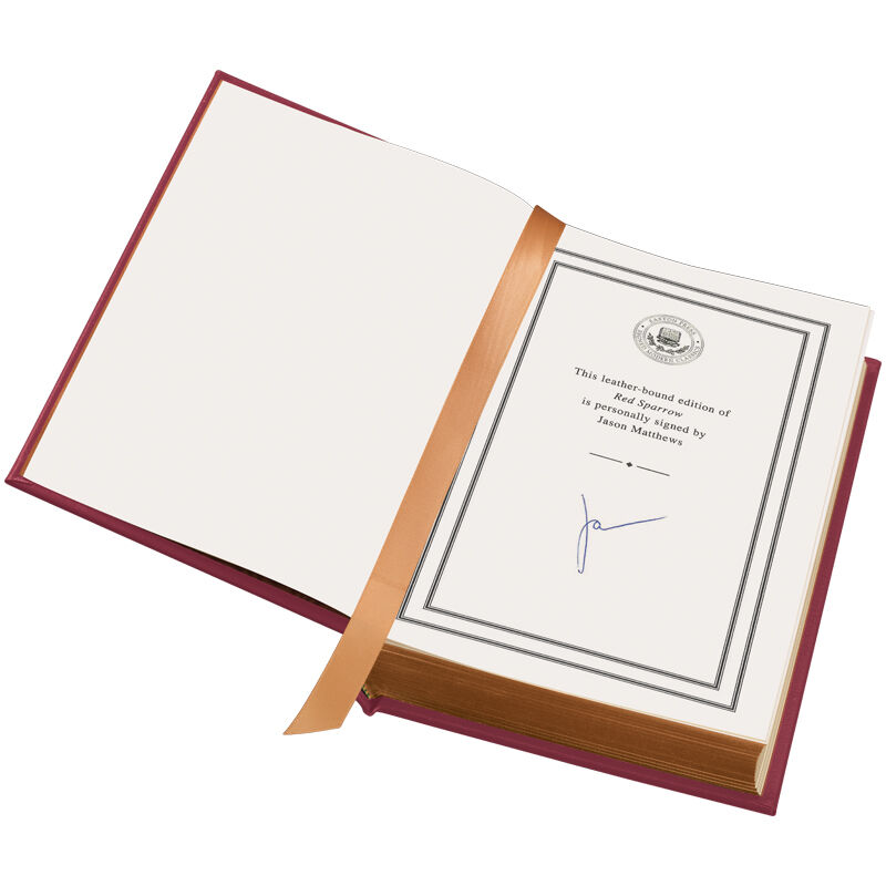 Jason Matthewss Red Sparrow A Signed Edition 3489 2