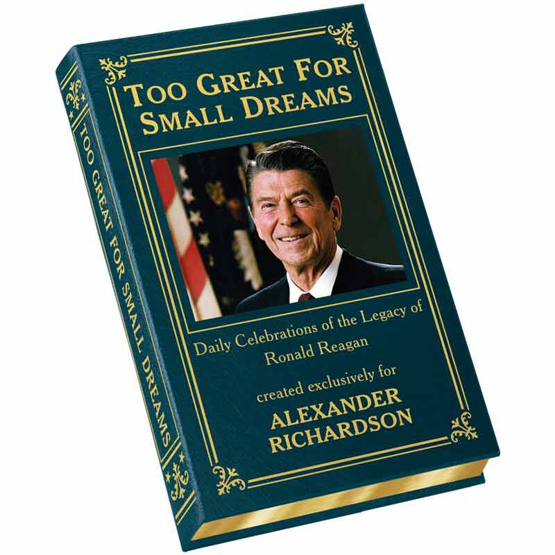 Personalized Leather Book Honoring President Ronald Reagan 5617 1